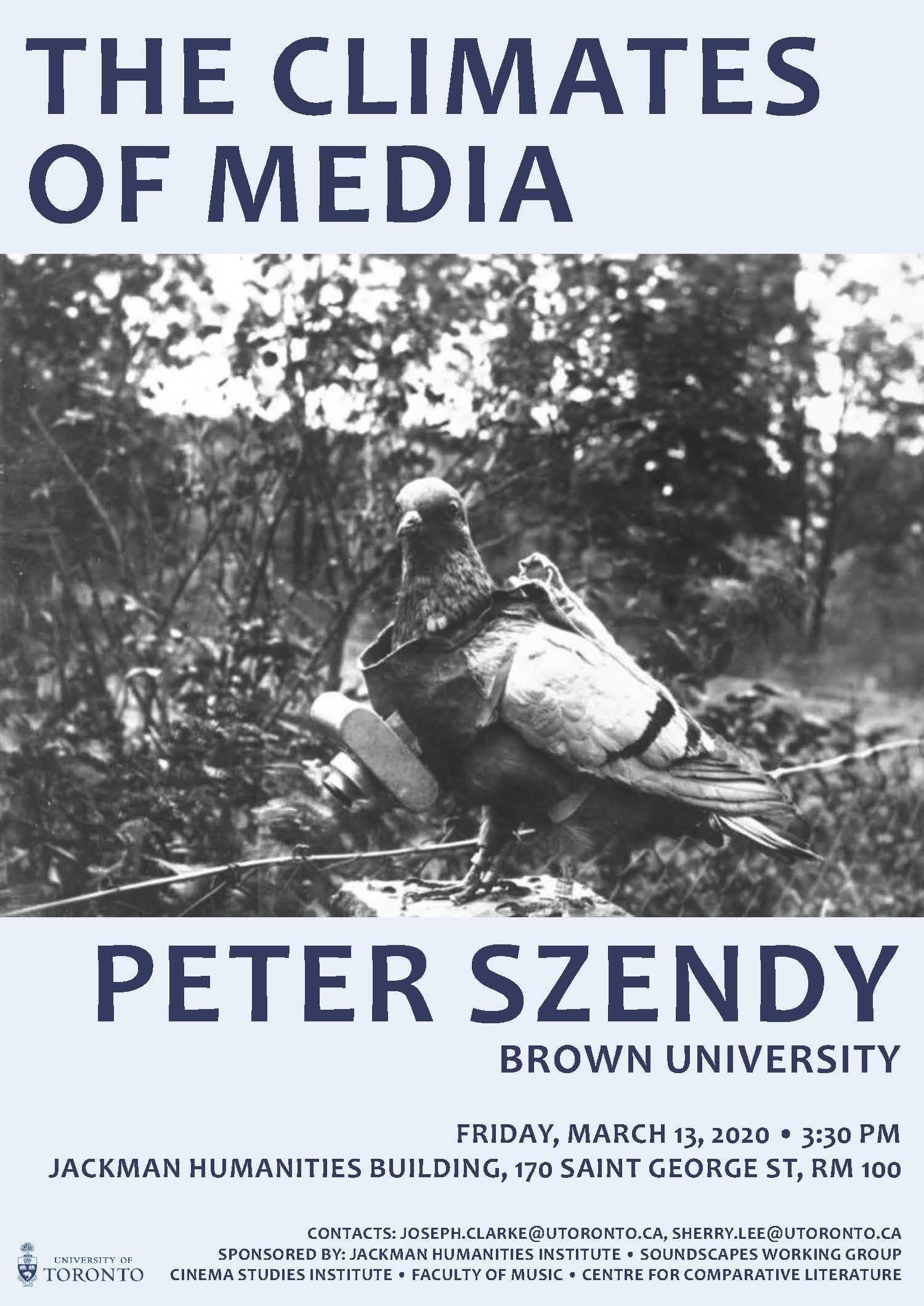 Details of Peter Szendy talk at U of T.