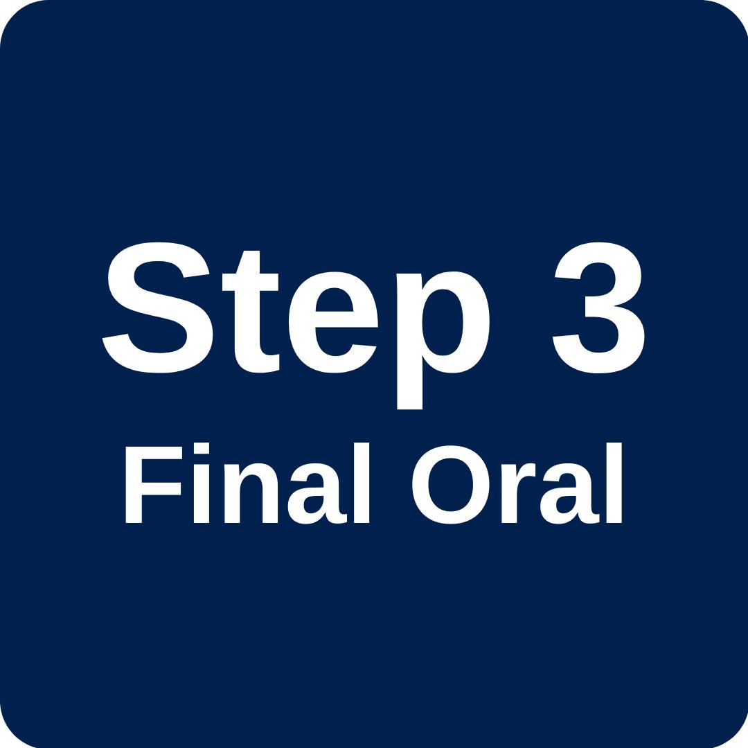 Step 3 Final Oral Examination (FOE)