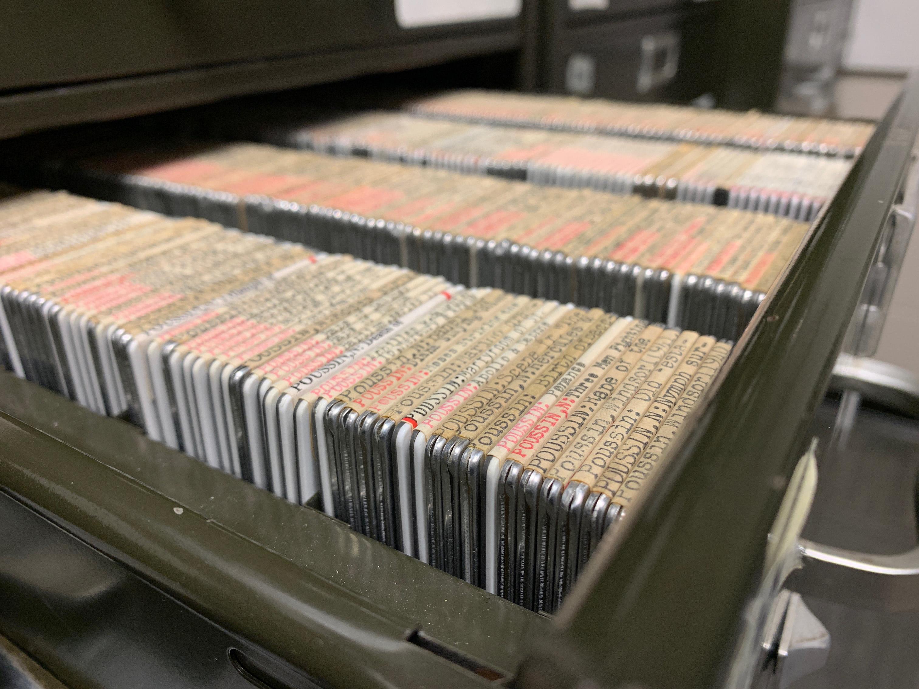 35mm slide drawer open
