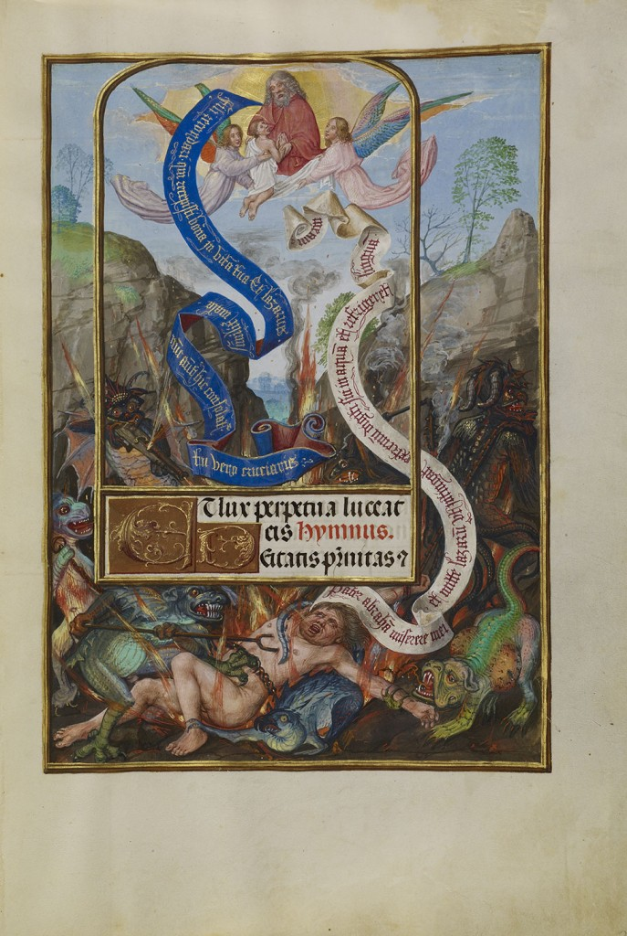 Master of James IV of Scotland (Flemish, before 1465 – about 1541) Lazarus's Soul Carried to Abraham, about 1510–1520
