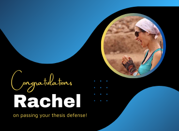 Congratulations to Rachel Dewan!