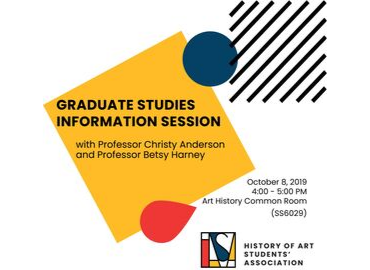 October 8 2019 Art History Graduate Information Session
