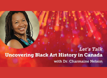 Charmaine Nelson photo beside text of her lecture