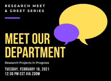 Meet & Greet Series Poster Feb. 16 2021 1:30pm