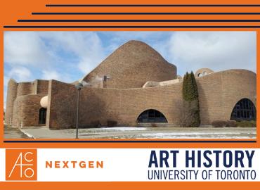 St Mary's Church exterior with ACO NextGen logo and Art History text