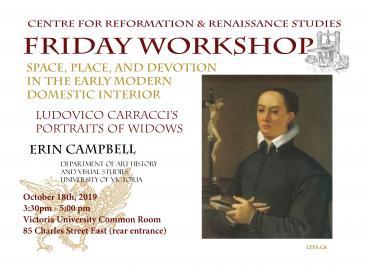 Centre for Reformation & Renaissance Studies workshop