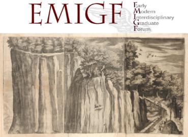 EMIGF logo above an engraving of the Description of the Sacred Mount Alverno by Jacopo Ligozzi