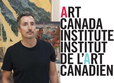 Kent Monkman headshot beside Art Canada Institute text logo