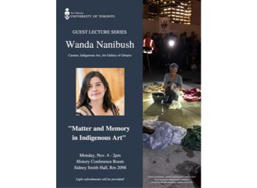 Wanda Nanibush Art History Guest Lecture poster