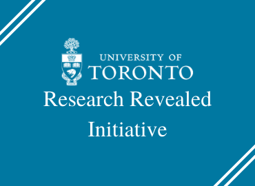 Research Revealed text and U of T logo on aqua background