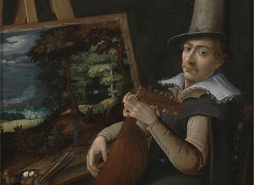 Painted self-portrait of Paul Bril.