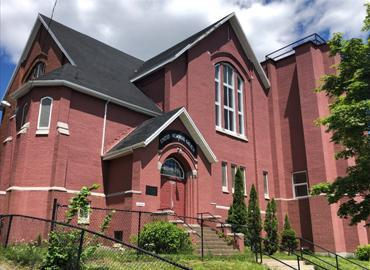 The United Memorial Church in Halifax was built in 1921, to honour the memory of those who lost their lives in the Halifax explosion in 1917.